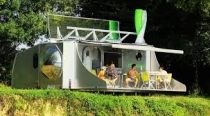 sCarabane the off-grid folding caravan Expands Into a Tiny House