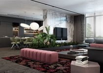 Luxury Apartment Design with Unique Atmosphere